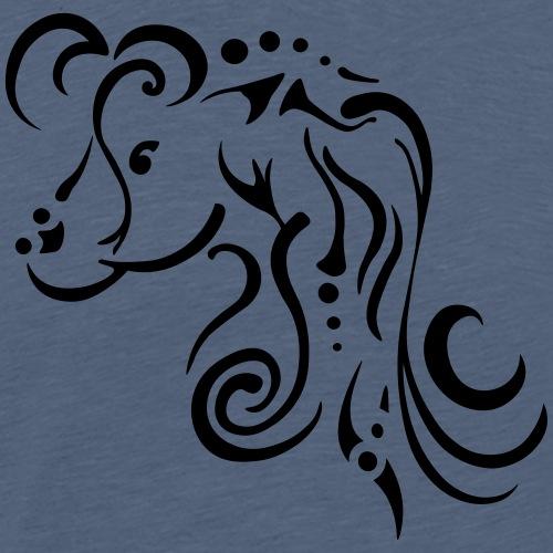 Jument, design tribal épuré - T-shirt Premium Homme