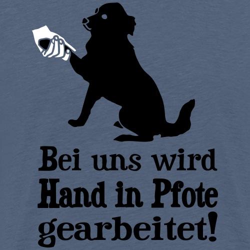 Hund Hundetraining Hundeschule Hundehalter Spruch - Männer Premium T-Shirt