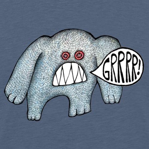 with added GRRRR - Men's Premium T-Shirt
