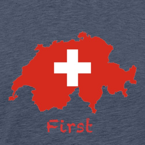 Switzerland, First - Männer Premium T-Shirt