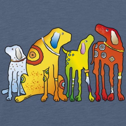 Hunde Meute Pinscher beste Freunde treues Haustier - Men's Premium T-Shirt