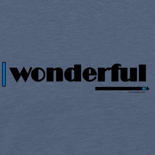 Wonderful Blue - Men's Premium T-Shirt