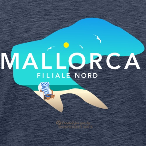 Borkum Mallorca Filiale Nord - Männer Premium T-Shirt