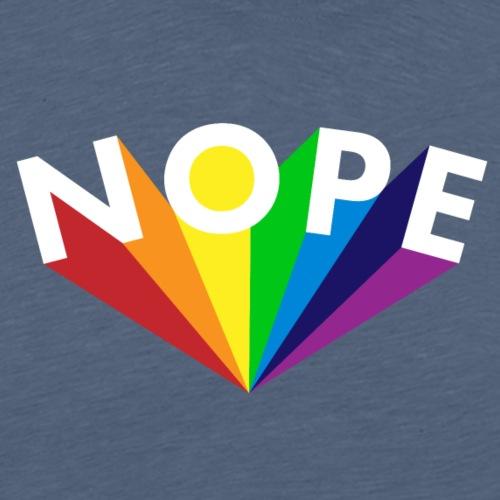 Nope Nö Nein als Regenbogen - Männer Premium T-Shirt