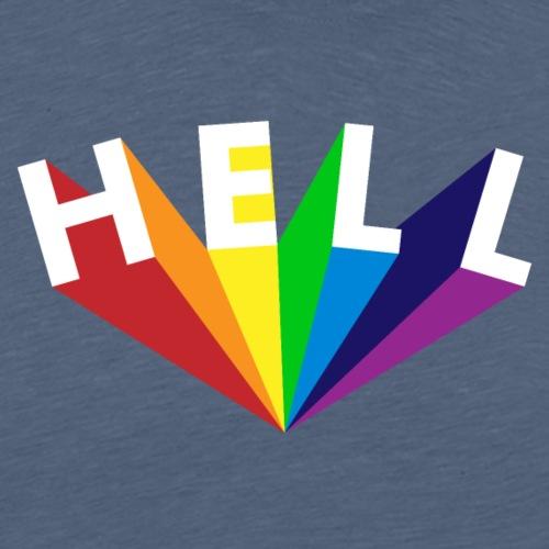Hell Rainbow White - Männer Premium T-Shirt