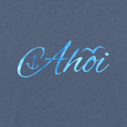 Ahoi mit Anker und Möwe - Männer Premium T-Shirt