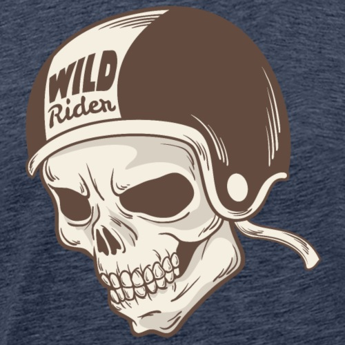 Helmet Skull Wild Rider - Men's Premium T-Shirt