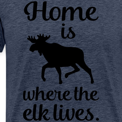 Elch Skandinavien Fan Spruch - Männer Premium T-Shirt