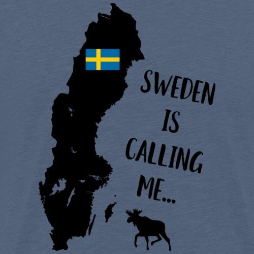 Schweden Flagge Karte Elch Spruch - Männer Premium T-Shirt