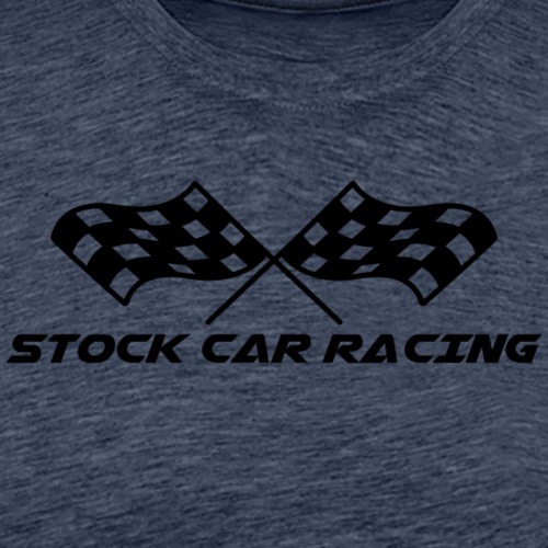 Stock Car Racing chequered flag, black - Men's Premium T-Shirt