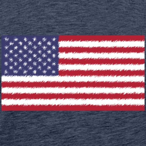 USA Flag Pencil - Männer Premium T-Shirt
