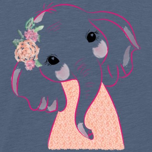 Cute Baby Elephant - T-shirt Premium Homme