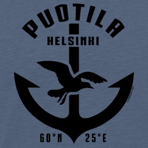 Puotila Helsinki Ankkuri tekstiilit ja lahjat - Miesten premium t-paita