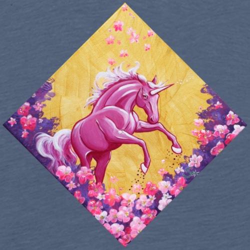 Einhorm im Blütensturm - Männer Premium T-Shirt