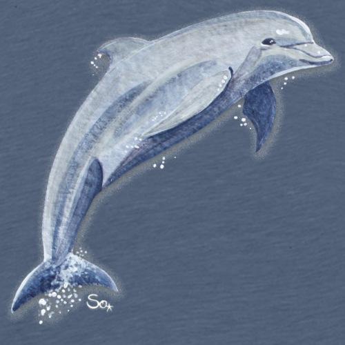 Delfin Glückssprung - Männer Premium T-Shirt