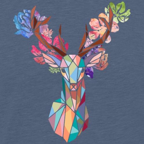 Cerf fleuri - T-shirt Premium Homme