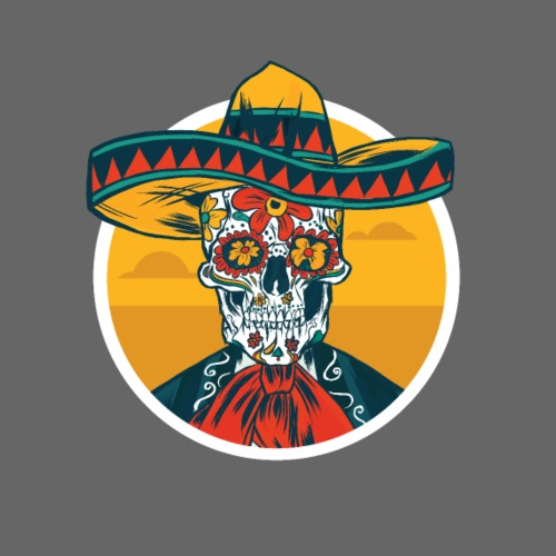 Remera Skeleton Mexico - Männer Premium T-Shirt