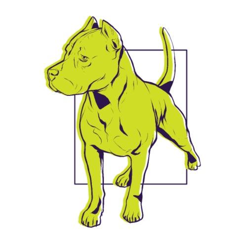 Pitbull Yellow - Männer Premium T-Shirt