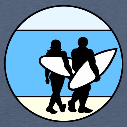Surfer am Strand Nr.5 - Männer Premium T-Shirt