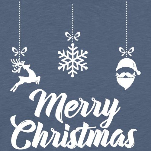 Present-Merry-Christmas deer, snow and Santa Claus - Männer Premium T-Shirt
