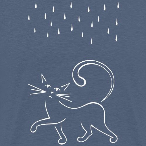 Cat and Rain - Men's Premium T-Shirt