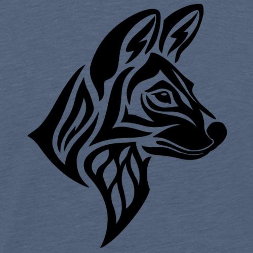 Tribal Painted Wolf - Men's Premium T-Shirt
