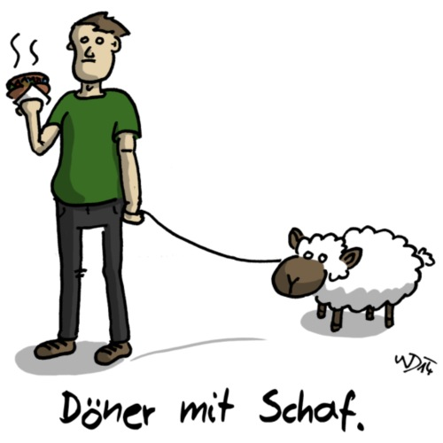 Döner mit Schaf - Männer Premium T-Shirt
