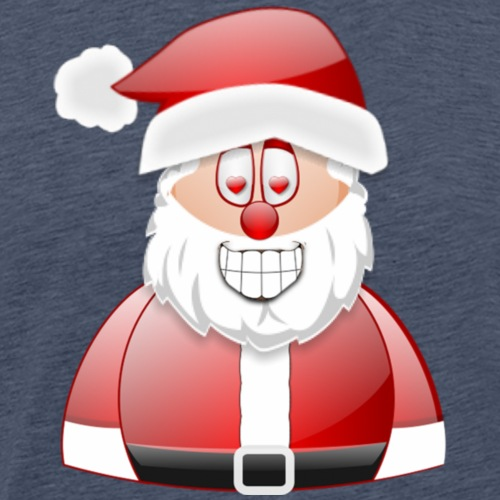 Santa 1 Love Eyes - Men's Premium T-Shirt