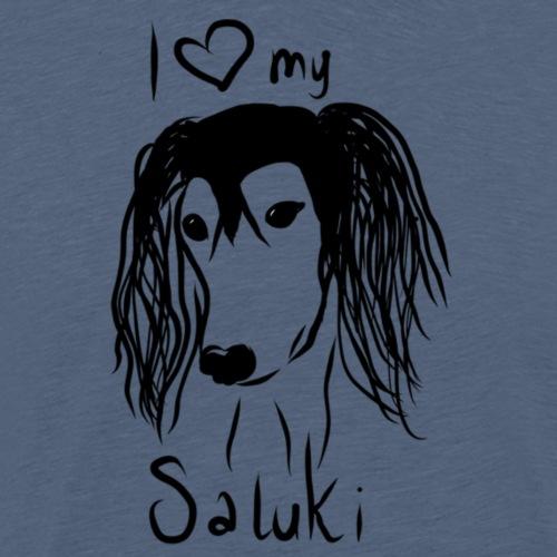 I love my saluki - Mannen Premium T-shirt