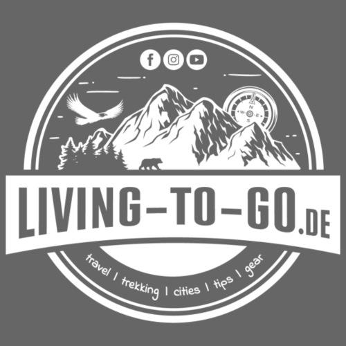 LivingToGo Fan-Shop Logo weiss - Männer Premium T-Shirt