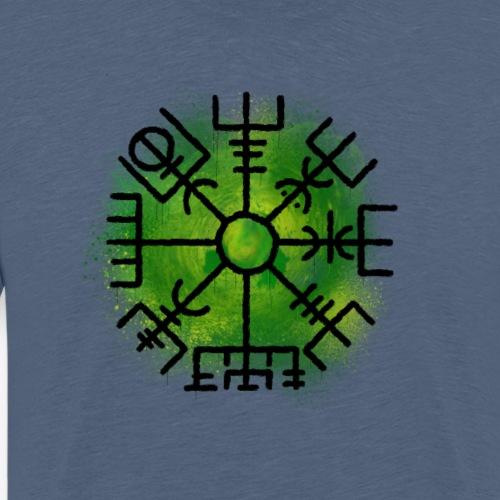 Vegvisir Green By TheRawburt - Premium-T-shirt herr