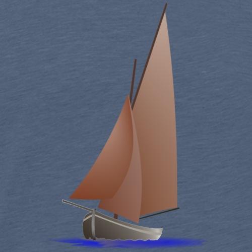 voilier rouge - T-shirt Premium Homme