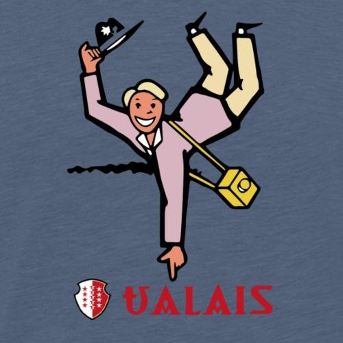 Valais Wallis - Vintage - Männer Premium T-Shirt