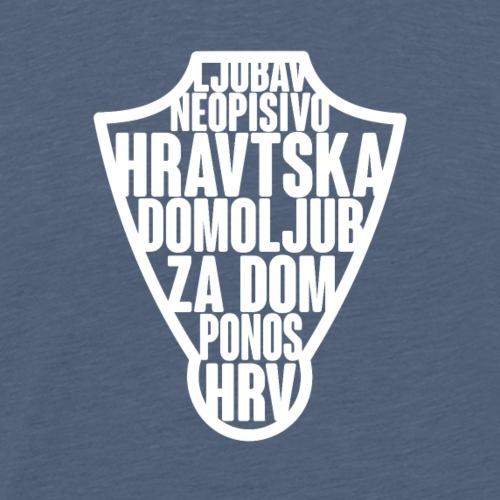 Croatia!!!Premium Designs für alle Hrvatska Fan´s - Männer Premium T-Shirt
