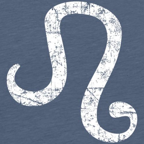 Sternzeichen Löwe (Vintage/Weiß) - Männer Premium T-Shirt