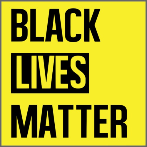 Black Lives Matter (yellow) - Mannen Premium T-shirt