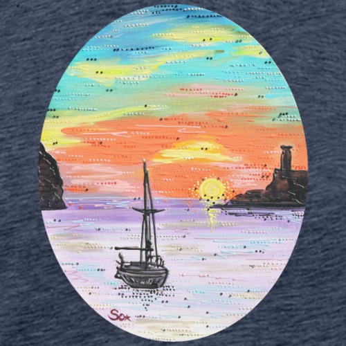 Port de Sollers Sonnenuntergang - Männer Premium T-Shirt
