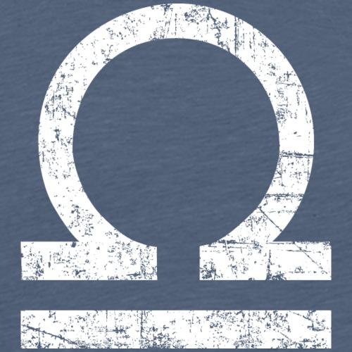Sternzeichen Waage (Vintage/Weiß) - Männer Premium T-Shirt