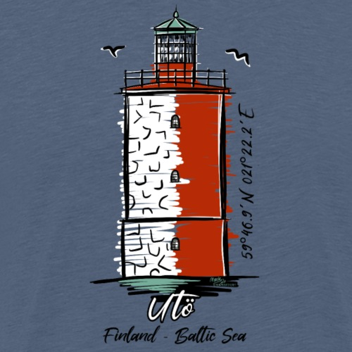 Finnish Lighthouse UTÖ Textiles, and Gifts - Miesten premium t-paita