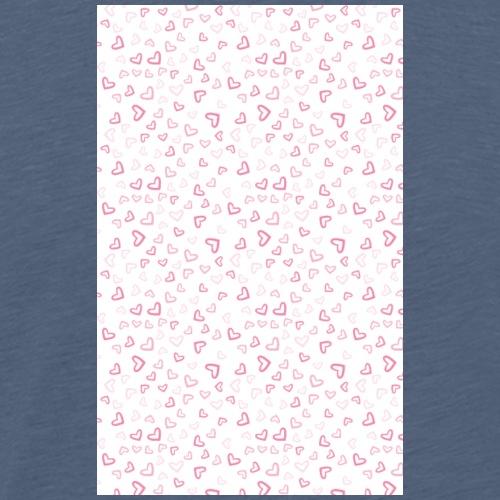 Kleine rosa Herzen | Handycover Smartphone Case - Männer Premium T-Shirt