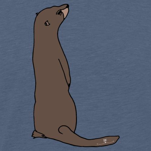 Tierisch wild- Otter - Männer Premium T-Shirt