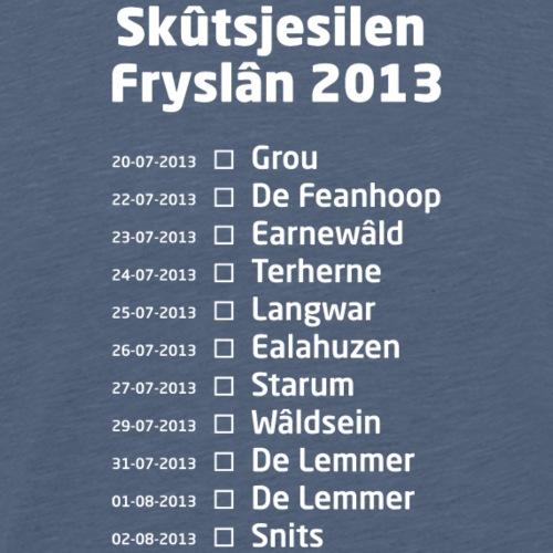 Skutsjesilen wit - Mannen Premium T-shirt
