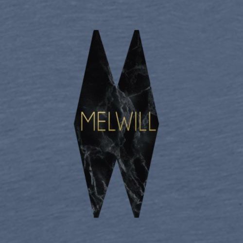MELWILL sort - Herre premium T-shirt