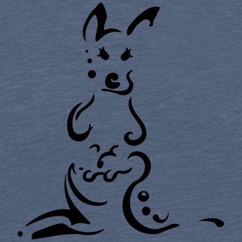 Kängurus, schlankes Design Tribal - Männer Premium T-Shirt