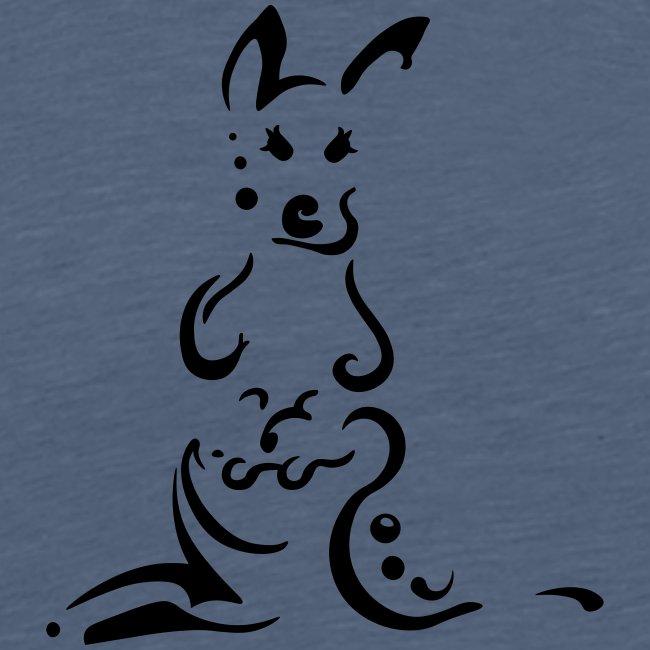 Kangourous, design tribal épuré