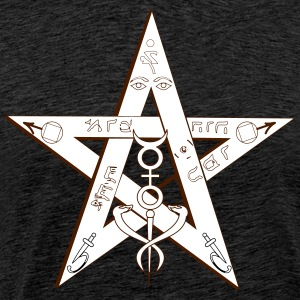 pentagram Magic - Herre premium T-shirt