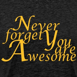 Never_forget_You_are_Awesome - Mannen Premium T-shirt