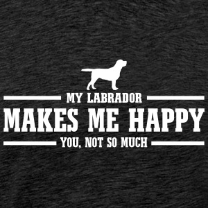 LABRADOR makes me happy - Men's Premium T-Shirt