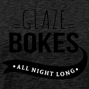 Bokes glasur, All night long - Herre premium T-shirt
