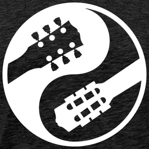 classical guitar vs electric yinyang - Men's Premium T-Shirt